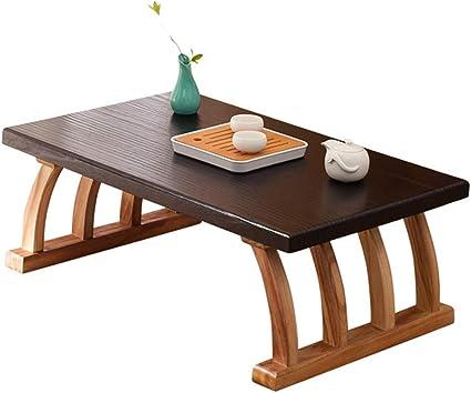 Tavolo Da Te Giapponese Tavolino In Legno Massello Tavolino Da Caffe Tavolino Da Balcone Piano Quadrato Dimensioni 60x40x30cm Amazon It Casa E Cucina