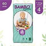 Bambo - 7015 - Pañales Ecológicos Bambo Maxi T4 60 uds