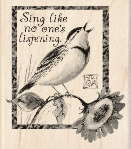 Inkadinkado Wood Stamp, Sing Like No Other