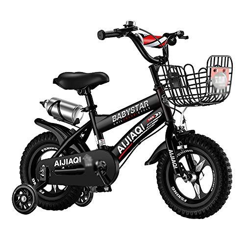 CivilWeaEU Kinderfahrrad Mit Trainings- Und Wasserflasche 12-18 Zoll Zweirad Fahrrad Jungen & Mädchen Fahrrad...