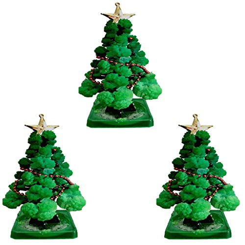 UJGYH 1/2/3 PCS Magic Growing Tree for Boys Girls Christmas Decorations Crystal Paper Tree Toy Novelty Xmas Gift 3.74×5.51' (3pcs)
