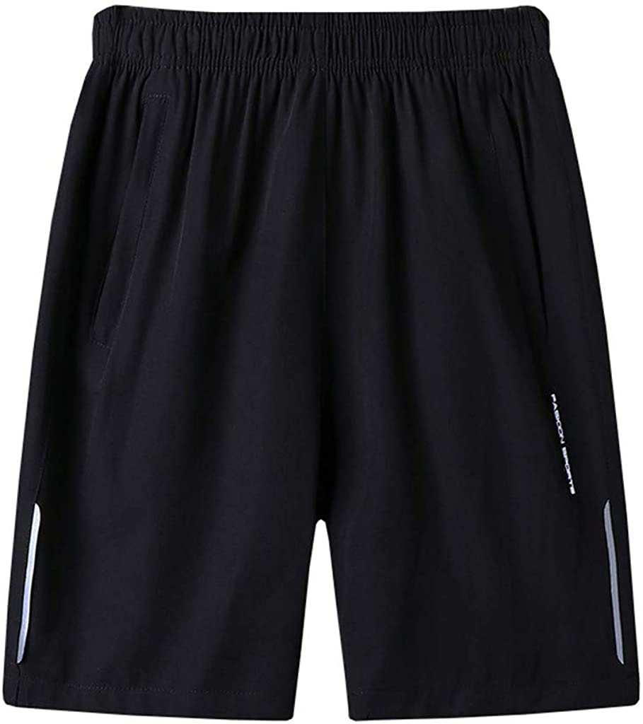 DIOMOR Fashion Classic Plus Size Outdoor Athletic Shorts for Men Casual Sport WorkoutTrunks Knee Length Fitness Pants