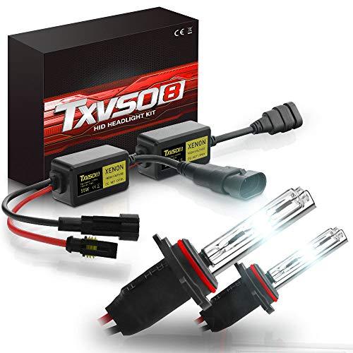 HPDOZ 9006(HB4) Xenon-Lampen12V 55 Watt Xenon HID Conversion Kit Scheinwerfer für Auto Fahrzeug Ersatz Halogenlampe Set, 6000K/8000K/10000K/12000K(2 Glühbirnen,6000K