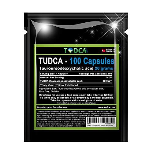 TUDCA 20 Grams - 100 x 200mg Capsules Liver Health