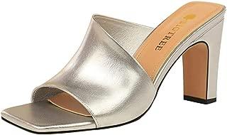 Melady Women Fashion Summer Shoes Peep Toe Weave Mules Sandals