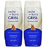 Leche De Burra Grisi Donkey's Milk Shower Gel Hidratante 15.2fl, Oz (Pack of 2)