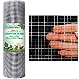 Amagabeli 1/2 Hardware Cloth 36 x 100 19 gauge Galvanized Welded Wire Metal Mesh Roll Vegetables Garden Rabbit Fencing Snake Fence for Chicken Run Critters Gopher Racoons Opossum Rehab Cage Window