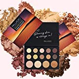 Palladio Sun-Kissed Mirage Eyeshadow Highlighter Palette, Warm Flawless Look, Matte and Shimmer Finishes, 14 Curated to Ensure Rich and Highly Pigmented Colors, All Day Wear (SUN-KISSED)