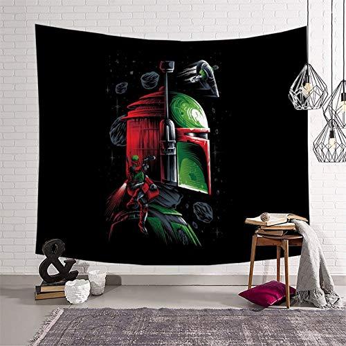 Tapiz para colgar en la pared, diseño de Star Wars The Child Mandalorian Temporada 2, regalos para niños para hombres, tapiz para porche, tapiz (130 x 150 cm)