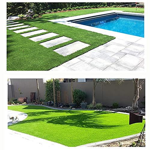 NINGWXQ Deluxe Grasmat Kunstgras Deurmat, Buiten Decor, Pet Turf Garden, Dik Kunstmatig Groen Gras, for Tuinen En Balkons In Groen (Color : Green2.0cm, Size : 2x10m)