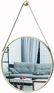XZPENG Circle Wall Mirrors Gold Decorative Wall Mountable Home Decor Shaving Mirror for Bathroom (Size : 60cm)