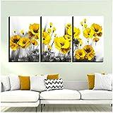 gelbe mohnblume Bild leinwand Malerei Poster Drucken