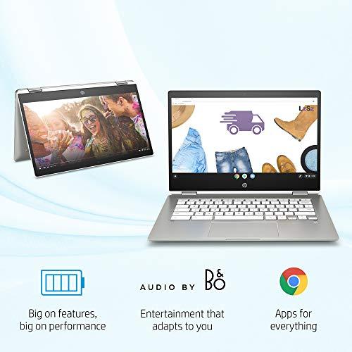 HP 14b-ca0010nr Chromebook X360 14-Inch HD Touchscreen Laptop