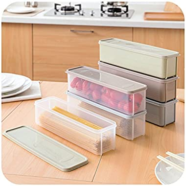 Japanese-style noodle kitchen refrigerator box lid plastic food storage box crisper drawer finishing box
