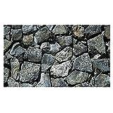 BullBallBoll Fondo de Acuario de Roca 2 tamaños Piedras Grises Terrario rocoso Decoraciones de PVC duraderas Decoración de Pared de Fondo para pecera Fondo de Piedra de Acuario