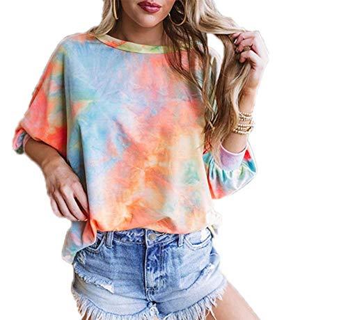 Langarm-Sweatshirts für Damen Rückenlose Strick-T-Shirt-Blusen Tunika-Oberteile...