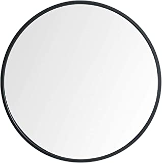 """Beauty4U Large Round Metal Frame Mirror, 19.7"""" Wall-Mounted Mirror for Bedroom, Bathroom, Living Room, Entryway, Vanity Mirror, Black"""