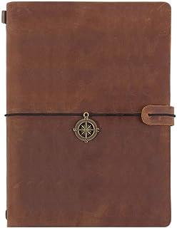 Notizbuch, Crazy Horse Travel Notizblock Handbuch Handbuch Retro Notizbuch Tagebuch Live Tagebuch Braun   22  16cm B07PDRBGDV  Qualität