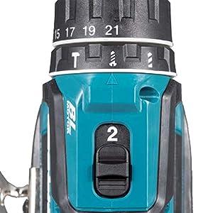 Makita DHP485Z Schlagbohrschrauber 18,0V (ohne Akku/ohne Ladegerät), 18 V, Schwarz, Blau