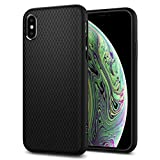 Spigen Funda Liquid Air Compatible con iPhone XS y Compatible con iPhone X - Negro