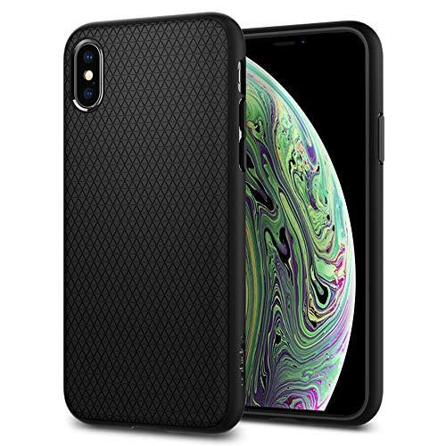 Spigen Funda Liquid Air Compatible con iPhone XS y Compatible con iPhone X - Negro