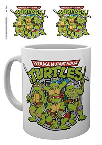 1art1 Teenage Mutant Ninja Turtles - Retro Foto-Tasse Kaffeetasse 9 x 8 cm