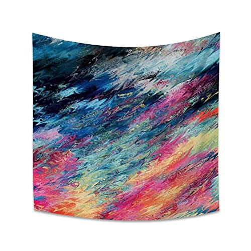KBIASD Tapiz de Cielo Colorido Colgante de Pared Playa de Arena Manta de Manta Tienda de campaña Colchón de Viaje Colchón de Dormir Bohemio Tapices 150x150cm