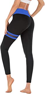 Women's Yoga Pants for Running Sports Fitness Gym Tummy Control Workout Running 4 Way Stretch Yoga Leggings LONGDAY