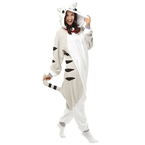 Adult Chi s Cat Onesie Fleece Cartoon Sleepwear Cosplay Costume Unisex b866bfc2e1187