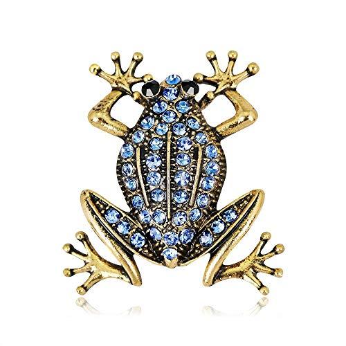 Yarmy Broches para Ropa Mujer Ramillete de Rana la señora la Retro Joyas Broche Moda aleación Diamante otoño e Invierno