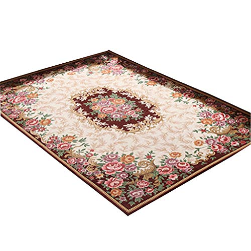 Find Bargain CarPet Non-Slip Home Bedroom can be Machine Washed (Color : Brown)