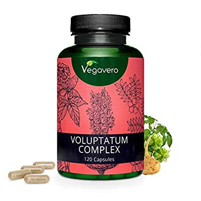 NEW: Voluptatum Complex | Natural Hormone Balance and Libido Booster | Maca Root, Tribulus Terrestris Fruit and Korean Ginseng Leaf | 120 Capsules | Vegan & Vegetarian by Vegavero from Vanatari International GmbH