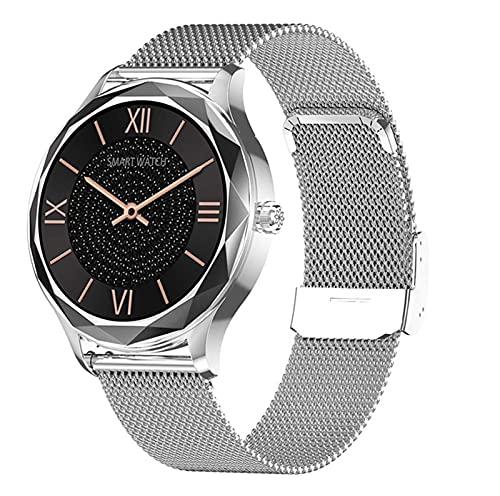 LSQ 2021 Acero Inoxidable Reloj Inteligente Mujeres IP68 Impermeable Pulsera Preciosa Pulsera Monitor De Ritmo Cardíaco Reloj De Pulsera Electrónica,C