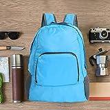 Bolso para hombros, Mochila impermeable duradera de nylon para equipos ligeros, para acampar, caminar(blue)