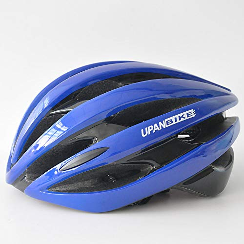 Casco de bicicleta para adultos con luz trasera ajustable para bicicleta de carretera, bicicleta de montaña, BMX Ciclismo para hombres y mujeres (azul oscuro + negro)
