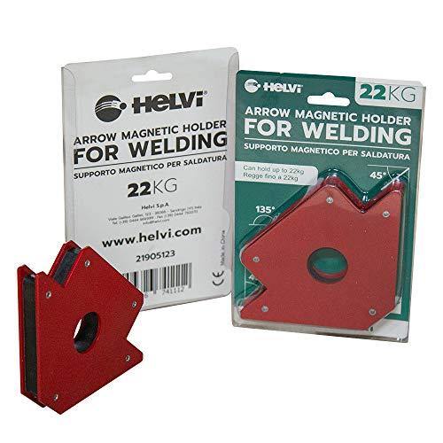 Helvi 21905123 Supporto Magnetico per Saldatura 22KG, Rosso, 22 Kg Fisso