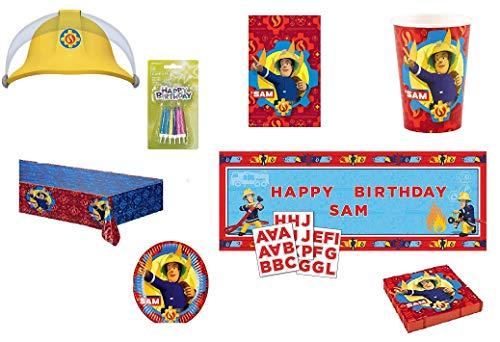 Mgs33 Mega Pack Sam Le Pompier 8 Enfants Complet Anniversaire , fêtes , Complet + 1 Cadeau Pompier dans Votre Commande* Fireman Sam