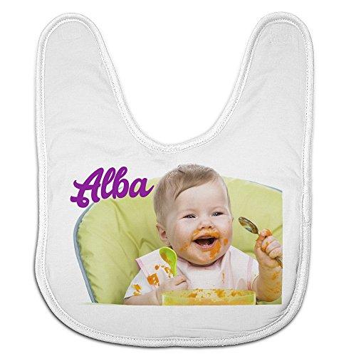 Babero Bebé Personalizado con tu Foto/Imagen/Nombre/Texto | Regalos Bebés Recién Nacidos Blanco