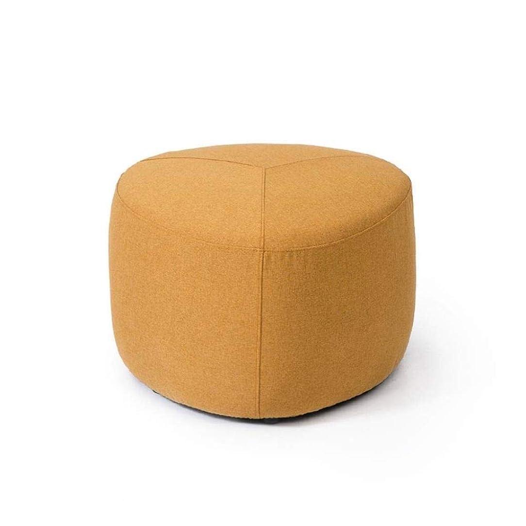 国籍見せますしたい怠惰なソファー、多機能スツール、ソファベンチ、コーヒーテーブルスツール、ベンチファブリックブロック、現代スツール靴ベンチ、ホームスツール45 * 45 * 38 Cmを、57 * 57 * 38 Cmを、80 * 80 * 38センチメートル (Color : Apricot Yellow, Size : 80*80*38cm)