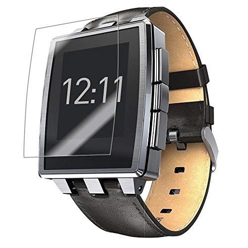 Skinomi Screen Protector Compatible with Pebble Steel Smartwatch (6-Pack) Clear TechSkin TPU Anti-Bubble HD Film