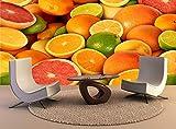 YBHNB Fototapete Zitrusfrucht-Wand-Druck Fototapete Wandtattoo Wandteppich-450X300Cm