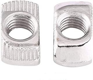 50pcs M4, M5, M6, M8 Tuercas de Cabeza de Martillo Tuercas de T-ranura Tuercas de Carredera en T Tuercas de Acero de Carbono Tuercas Recubiertas de Zinc de Estándar Europeo(EU30-M6 × 16.5 × 8)