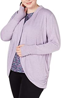 Ideology Plus Size Open-Front Cardigan Purple Size 3X-Large
