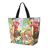 Detective Conan Beach Travel Daily Bolsa de hombro de gran capacidad para compras de ocio y aprendizaje, reutilizable, duradera, multifunción