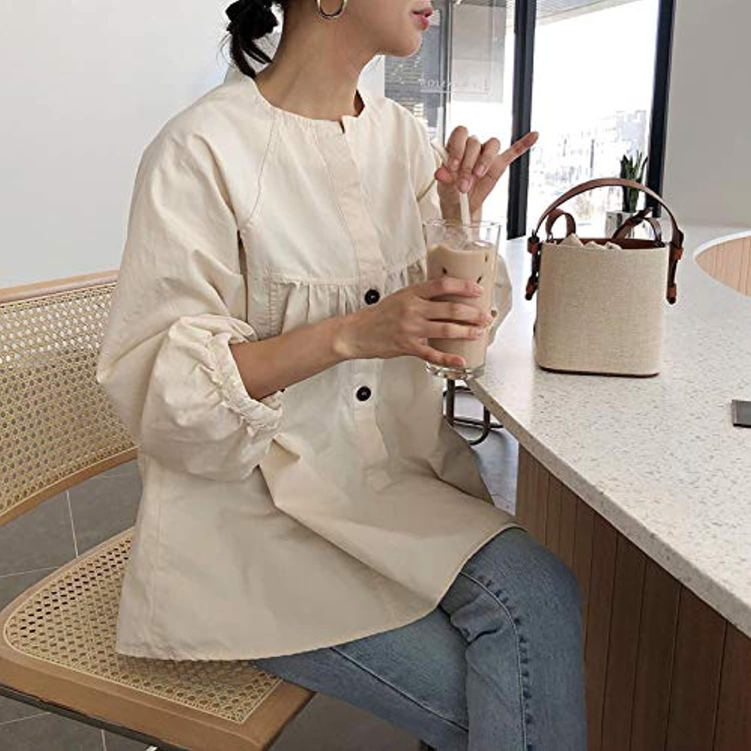WANGZHAO Bucket Bag, Canvas Splicing, Crash color Handbag, Shoulder Bag, Satchel Bag, Women's Bag.