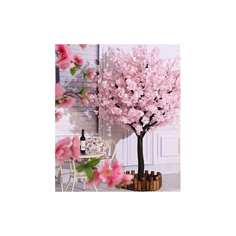 silk flower arrangements vicwin-one artificial cherry blossom trees japanese cherry blossom pink/light pink fake sakura flower indoor outdoor home office party (light pink, 4ft tall/1.2m)