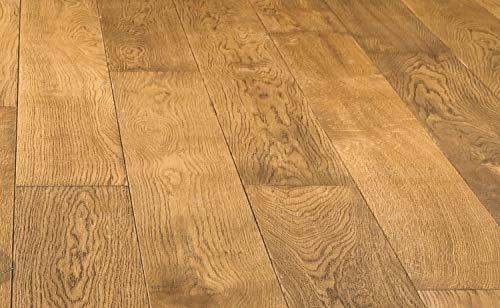 HORI® Massivholzdiele Eiche rustik Cognac Landhausdiele 1-Stab mit Fase geölt I für 40,19 €/m²