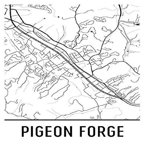 Moderne kaart kunst Duif Forge Print, Duif Forge Art, Duif Forge Map, Duif Forge TN, Duif Forge Tennessee, Duif Forge Poster, Duif Forge Muur Art, Duif Forge Gift