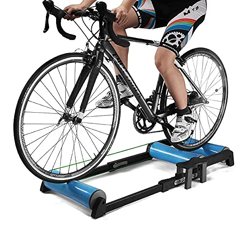 NAINAIWANG Rodillo de Rulos para Bicicleta Soporte Entrenador Ajustable Plegable Ciclismo Interior Gimnasio Entrenador parabólico para Entrenador de Interior MTB Bicicleta Carretera Ejercicio
