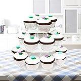 4-Etagen Cupcake Ständer, Tortenständer, Klar Runde Acryl – Hält bis zu 30 Cupcakes! Elegant Desserts Muffin Sushi Halter – Hoch Qualität & Haltbarer für Hochzeit, Geburtstage, Baby-Duschen. - 5